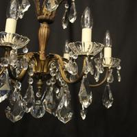 French Gilded 6 Light Chandelier c.1930 (6 of 10)