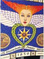 Scottish Victorian 'Star of Snowdoun' Enamel & Pearl Purity Brooch 1859 (34 of 34)