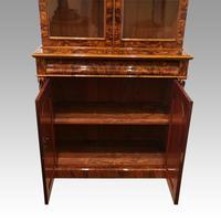 Victorian Burr Walnut Library Bookcase (8 of 11)