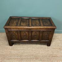 17th Century Period Oak Antique Carved Coffer (4 of 8)