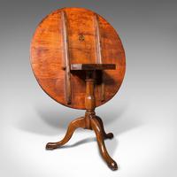 Antique Tilt Top Side Table, England, Oak, Occasional, Lamp, Georgian c.1760 (9 of 12)