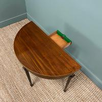 Elegant Small Edwardian Antique D End Games / Side Table (4 of 6)