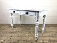 Distressed White Painted Victorian Pine Table (7 of 8)