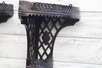 Aesthetic Movement, pierce-work corner shelves with galleries (a pair) c.1880 (29 of 35)