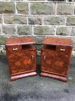 Pair of Art Deco Burr Walnut  Bedside Cabinets (10 of 10)