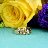 The Antique Victorian 1892 Pearl & Ruby Ring (3 of 6)