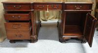 Chippendale Style Mahogany Partners Desk (7 of 9)