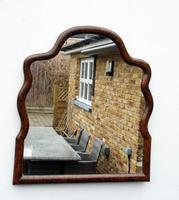 Georgian  Queen Anne Style Burr Walnut Wall Mirror (9 of 17)