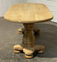 French Bleached Oak Monastery Dining Table (16 of 30)