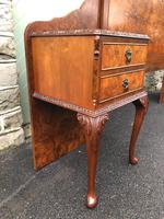 Pair of Antique Burr Walnut Bedside Tables (7 of 12)