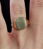 Vintage 9ct Gold Masonic Swivel Ring, Signet, Blue Enamel (12 of 13)
