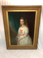 Huge 19th Century Young Fine Scottish Girl Portrait Matthias Robinson 1856-1895 (6 of 37)