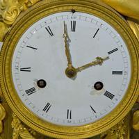 Fine French Empire Ormolu Mantel Clock (6 of 9)