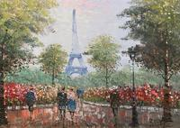 Lovely Pair of Original 20th Century French Parisian Gouache Cityscape Paintings (13 of 19)