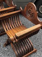 Important Pair Savonarola Walnut Chairs (4 of 7)