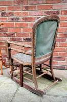 Antique Vintage Adjustable Wooden Wood Children's Baby Toddler High Chair Rocking Chair (4 of 5)