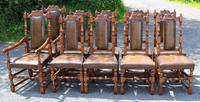 1960's Oak Dining Suite with Refectory Table & Set 10 Chairs - 8+2 Carvers (4 of 9)