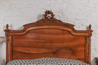 Impressive and beautiful large king size carved walnut bed & matching bedsides (7 of 13)