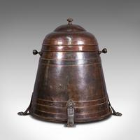 Antique Beehive Fireside Store, Copper, Fire Bucket, Coal Bin, Victorian c.1850 (3 of 12)