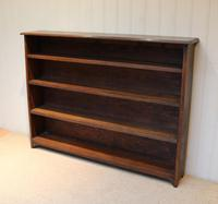 Large Solid Oak Open Bookcase (2 of 9)