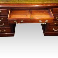 Edwardian mahogany large pedestal desk (8 of 14)