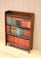Small Graduated Open Oak Bookcase (5 of 10)