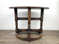 Unusual Antique Oak Oval Top Table (3 of 12)