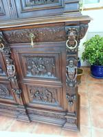 Country Oak Carved Cupboard Depicting Tavern Scenes 1800 (12 of 15)