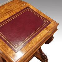 Victorian Antique Inlaid Walnut Davenport (6 of 13)