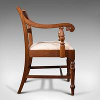 Set of 4, Antique Dining Chairs, English, Mahogany, Pair Of Carvers, Regency (4 of 12)