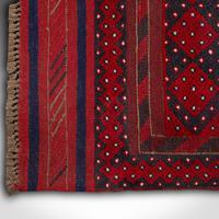 Long Antique Meshwari Runner, Persian, Wool, Kilim, Hallway, Carpet c.1900 (11 of 12)