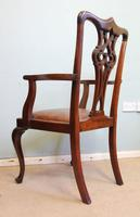 Antique Mahogany Georgian Style Desk Chair (2 of 7)