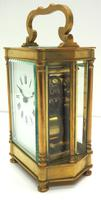 Rare & Unusual Cased Antique French 8-day Timepiece Carriage Clock c.1900 (4 of 10)
