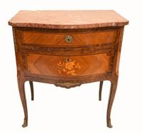 French Empire Commode Marquetry Inlay Antique Chest Drawers (3 of 10)