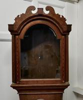 Victorian Inlaid Oak Long Case Clock Case (5 of 8)