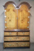 George I Style Figured Walnut Double Domed Cabinet (9 of 12)