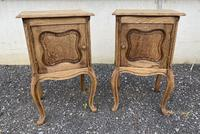 Nice Pair French Bleached Oak Bedside Cupboards (6 of 10)