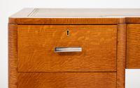 Blonde Oak Art Deco Desk (5 of 9)