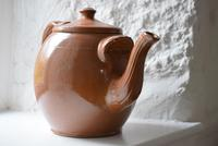 Large Late 19th Century Stoneware Teapot (4 of 9)