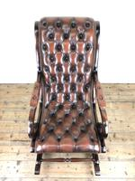 Brown Leather Chesterfield Style Rocking Chair (13 of 15)