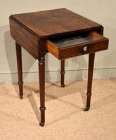 Attractive Regency Period Mahogany Drop Leaf Side Table (6 of 6)