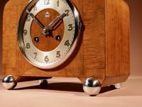 Art Deco Black Forest Very Stylish Walnut Mantel Clock c.1940 (8 of 8)