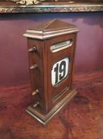 Large Antique Polished Oak Perpetual Desk Calendar (4 of 6)