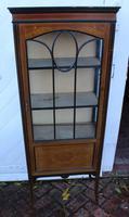 1920s Mahogany One Door China Cabinet with Inlay