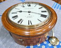 """Wonderful 12"""" English Fusee Dial Timepiece by Thomas Moore 1870 (5 of 9)"""