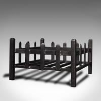Antique Fireplace Grate, English, Cast Iron, Fire Basket, Late Victorian c.1900 (3 of 10)