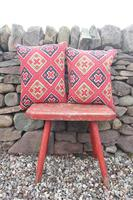 Early 20th Century, Antique Swedish Woven Textile, Geometric Patterned 're-stuffed cushions' (14 of 20)
