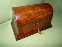 Large Burr Walnut Bell Style Tea Caddy - Original Lids c.1870 (5 of 11)
