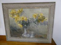 Painting Watercolour Yellow Chrysanthemum