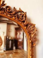 Antique Gold Mirror / Gilt Mirror / Large Mirror (4 of 9)